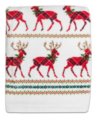 CLOSEOUT! Reindeer Cotton Bath Towel