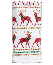 CLOSEOUT! Reindeer Cotton Hand Towel