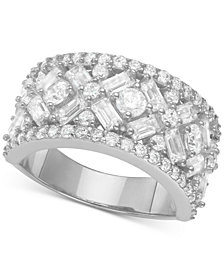 Cubic Zirconia (2-3/4 ct. t.w.) Statement Ring in Sterling Silver