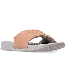 Nike Women's Benassi Just Do It Metallic Slide Sandals from Finish Line