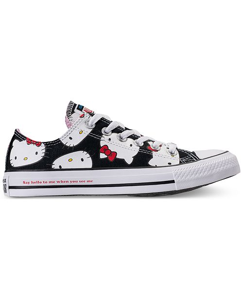Converse Women's Chuck Taylor Ox Hello Kitty Casual Sneakers