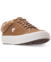 4c0b4fc7306613 Converse Women s One Star Ox Faux Fur Casual Sneakers from Finish Line