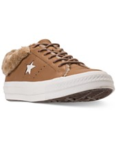 c665df9029ab Converse Women s One Star Ox Faux Fur Casual Sneakers from Finish Line