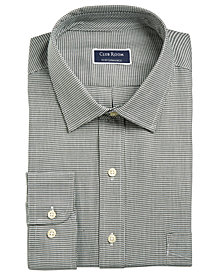 Club Room Men's Regular/Classic Fit Stretch Twill Puppytooth Dress Shirt, Created for Macy's