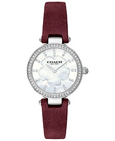 Women's Park Burgundy Leather Strap Watch 26mm