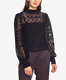 1.STATE Cropped Lace Top