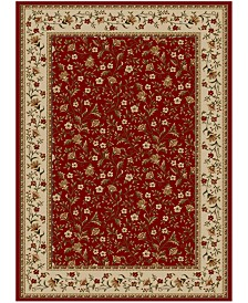 """CLOSEOUT!! KM Home Pesaro Floral Red 5'5"""" x 7'7"""" Area Rug"""