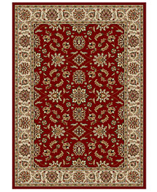 "CLOSEOUT!! KM Home Pesaro Meshed Red 3'3"" x 4'11"" Area Rug"