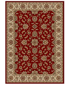 """CLOSEOUT!! KM Home Pesaro Meshed Red 3'3"""" x 4'11"""" Area Rug"""