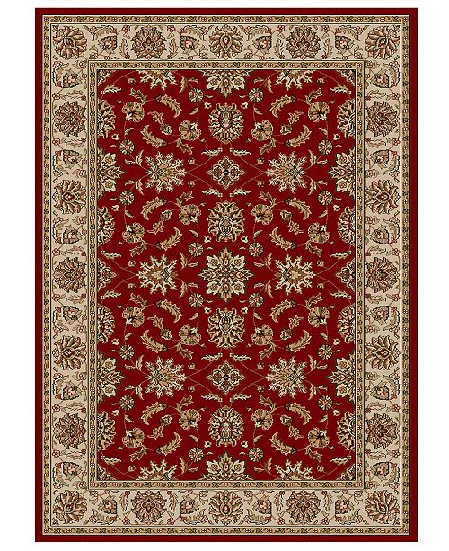 "KM Home CLOSEOUT!! Pesaro Meshed Red 3'3"" x 4'11"" Area Rug"