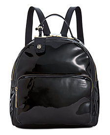 Tommy Hilfiger Patent Julia Dome Backpack