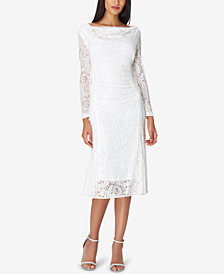 Tahari ASL Allover Lace Midi Sheath Dress