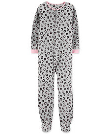 Carter's Little & Big Girls Animal-Print Fleece Pajamas
