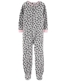 Carter's Little & Big Girls Animal-Print Fleece Pajamas