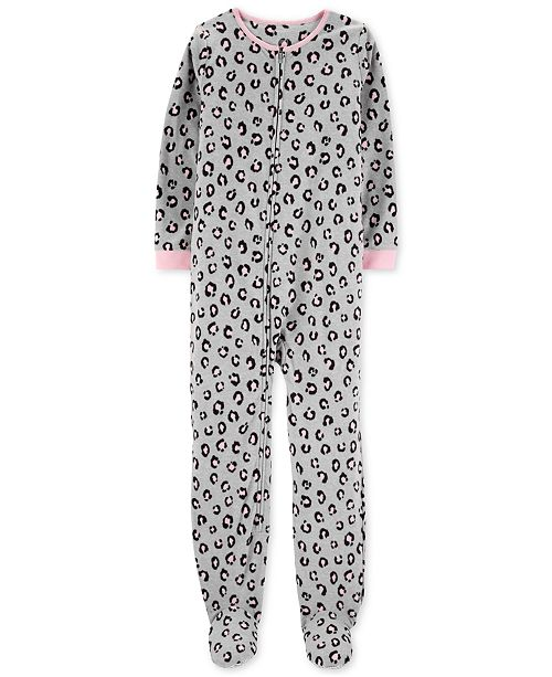 ab42e5e6f Carter s Little   Big Girls Animal-Print Fleece Pajamas   Reviews ...