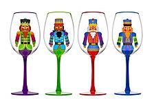 Godinger Nutcracker Set of Four Goblets