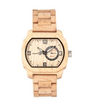 Scaly Wood Bracelet Watch W/Date Khaki 46Mm