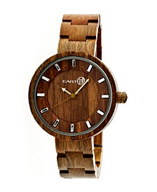 Earth Wood Root Wood Bracelet Watch Olive 41Mm