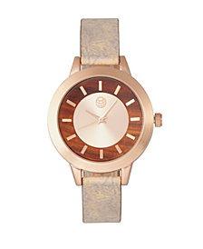 Earth Wood Autumn Watch Rose Gold/Brown 38Mm