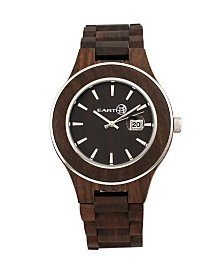 Earth Wood Cherokee Wood Bracelet Watch W/Magnified Date Brown 48Mm