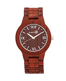 Bighorn Wood Bracelet Watch Red 46Mm