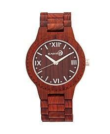 Earth Wood Bighorn Wood Bracelet Watch Red 46Mm