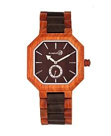 Earth Wood Acadia Wood Bracelet Watch Brown/Red 43Mm