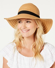 I.N.C. Grosgrain Woven Floppy Hat, Created for Macy's