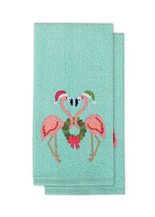 Arlee Wreath Love Kitchen Towels, Set of 2