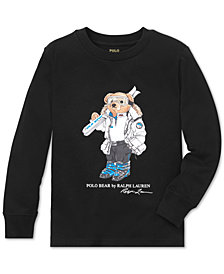 Polo Ralph Lauren Toddler Boys Ski Bear Long-Sleeve Cotton T-Shirt