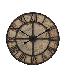 Imax Bryan Map Wall Clock