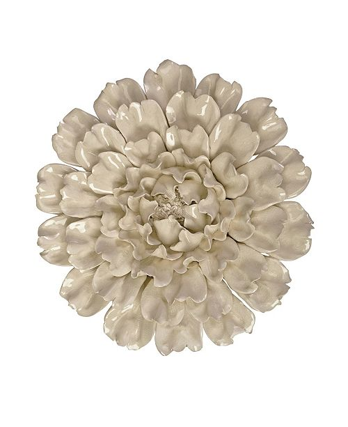 IMAX Isabella Large Ceramic Wall Decor Flower