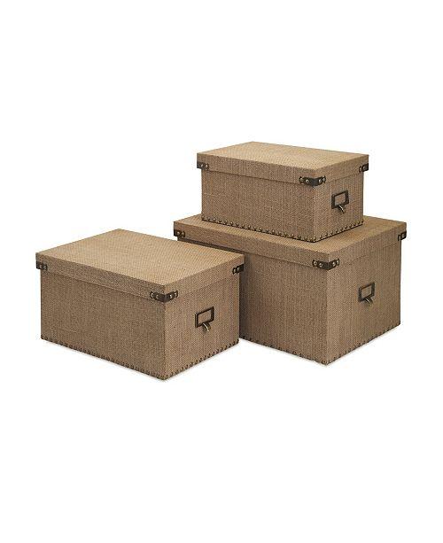 IMAX Corbin Storage Boxes - Set of 3