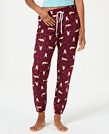 Jenni Printed Cotton Knit Pajama Pants, Created for Macy's