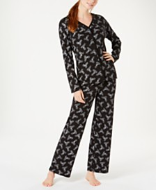 Charter Club Petite Cotton Printed Pajama Set, Created for Macy's