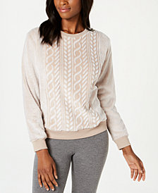 Ande Frosted Cable Cut Pile Pajama Top