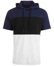 ID Ideology Men's Colorblocked Short-Sleeve Hoodie, Created for Macy's