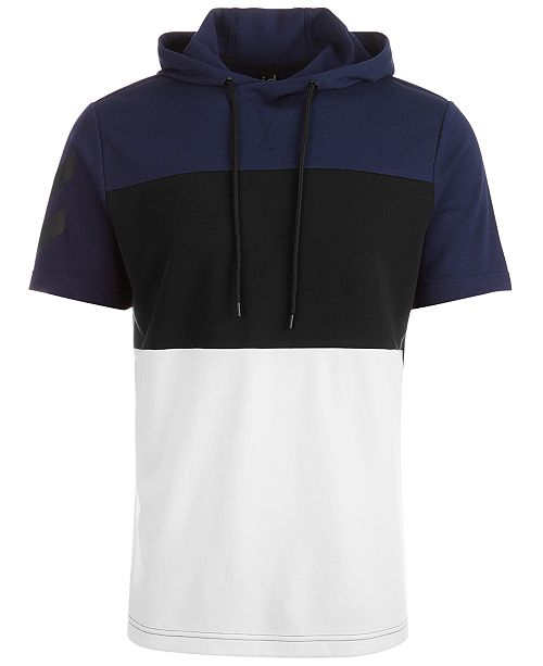 Ideology Men's Colorblocked Short-Sleeve Hoodie, Created for Macy's