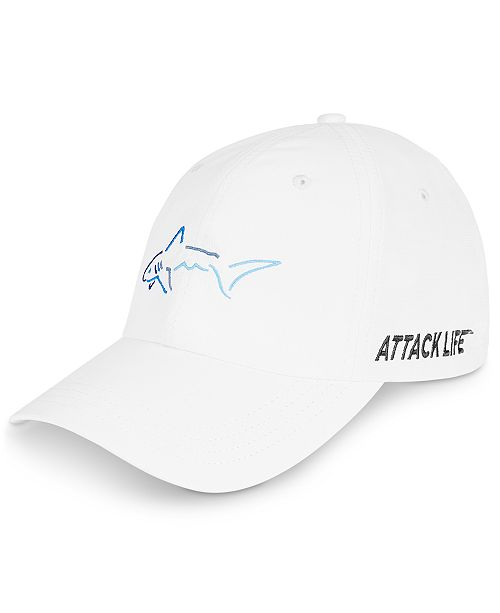 Greg Norman Men's Shark Embroidered Hat