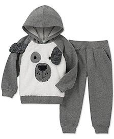 Kids Headquarters Baby Boys 2-Pc. Faux-Fur Dog Hoodie & Jogger Pants Set