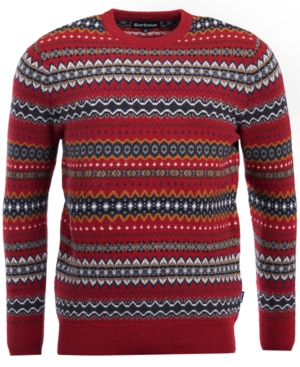 1920s Mens Sweaters, Pullovers, Cardigans Barbour Mens Case Fairisle Sweater $111.75 AT vintagedancer.com