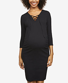 Motherhood Maternity Lace-Up Sheath Dress