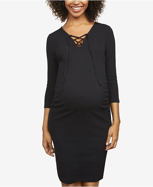 Motherhood Maternity Lace-Up Sheath Dress
