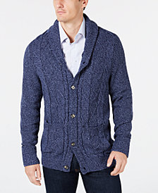 Club Room Men's Cable-Knit Shawl-Collar Cardigan, Created for Macy's