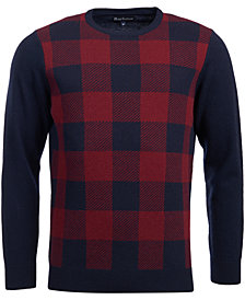 Barbour Men's Buffalo Plaid Wool Sweater