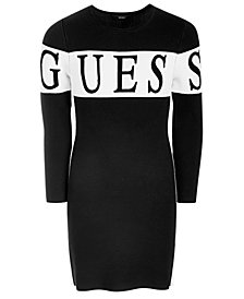 GUESS Big Girls Jacquard Sweater Dress