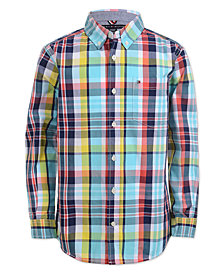 aa5dfb2273c50 Tommy Hilfiger Big Boys Enzo Plaid Shirt