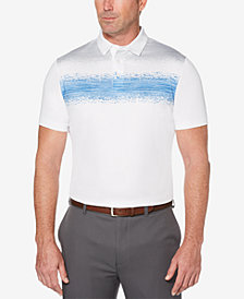 PGA TOUR Men's Space-Dyed Broken Chest Stripe Polo