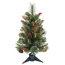 "National Tree 24"" Fiber Optic Crestwood Spruce Tree"