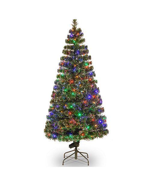 "National Tree Company National Tree 72"" Fiber Optic Evergreen Tree with LED Lights"